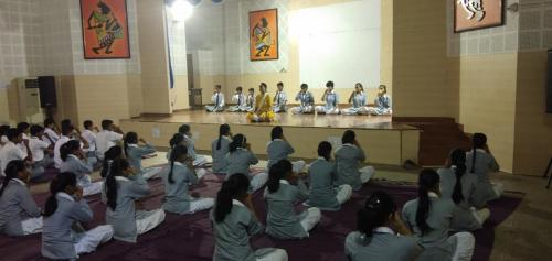 yoga in assembly